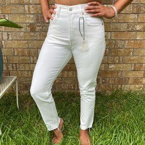 Levi 501 white Skinny Jeans